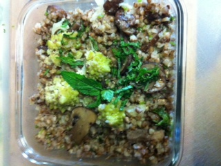 Buckwheat with Cremini Mushrooms and Broccoflower [Guest Post]